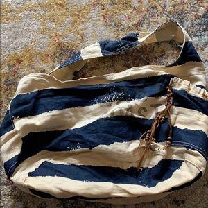 Aeropostle Blue and Cream Tote Bag